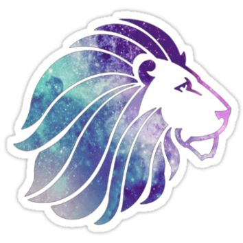 Alpha Delta Pi Lion Galaxy by katiefarello