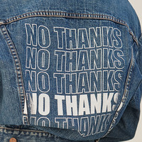 LA.EDIT Screen Print Denim Trucker Jacket at PacSun.com