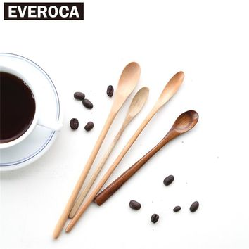 Japanese Tableware Long Handle Wooden Coffee Stirring Spoon Stir Bar Spoon Coffee Stick
