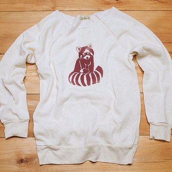 Red Panda Sweatshirt, SALE Sweater, Size XL