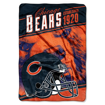 Chicago Bears NFL Stagger Oversized Micro Raschel (62in x 90in)