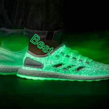 2018 Cheap Priced Glow-in-the-dark details on the Sneakerboy x Wish x Adidas Pure Boost EUR 40-45 off-white shoe