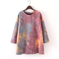 Multi Mix Color Sleeve Shirt