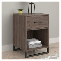 Mixed Material Nightstand Brown - Room Essentials™