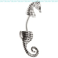 Seahorse Surgical Steel Belly Ring:Amazon:Jewelry