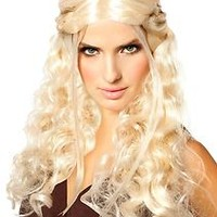 Adult Std. Platinum Blonde Dragon Princess Wig - Costume Wigs