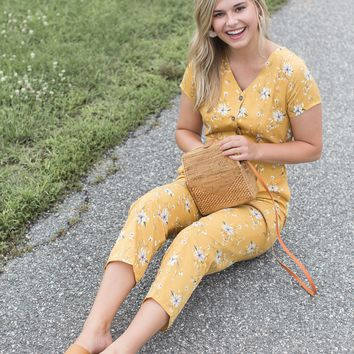 East Atlantic Jumpsuit, Mustard