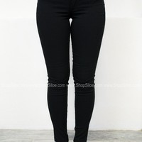 Skinny Stretch Jeggings | Black