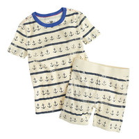 crewcuts Boys Short Pajama Set In Anchor Stripes