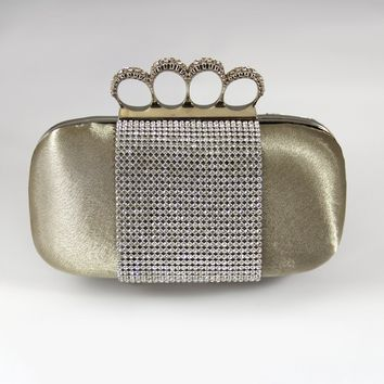 """Evening Purse Collection 7.25""""X2.25""""X5.25"""" Champagne"""