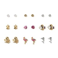 Sand and Sea Creatures Stud Earrings Set of 9  | Icing