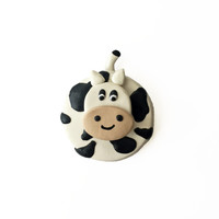 Cow Magnet - Farm Animal Magnet - Black and White Magnet - Kitchen Magnet - Polymer Clay Magnet - Fridge Magnet - Cute Magnet