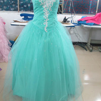Custom tulle Sweetheart  Ball gowns Bridal Gown Bridesmaid Dress Evening Prom Dress