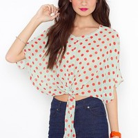 Tied Dot Blouse in  Clothes at Nasty Gal