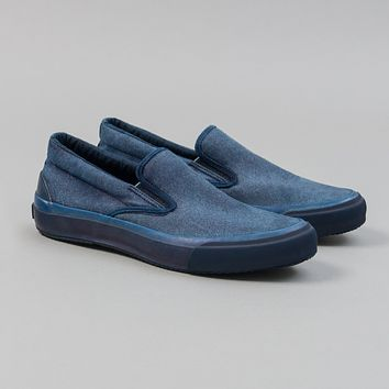 Synth Suede Slip-Ons, Indigo Dyed Limited Edition