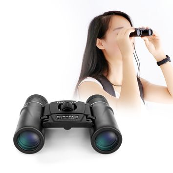 Portable Folding Mini 8x21 Binocular Telescope for Ball Game Concert Theater Opera with Green Film Multicoated Optical Glass Lens and BK4 Prism