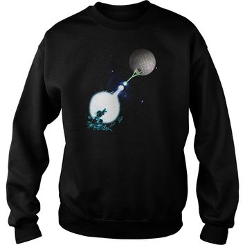 Dragon Ball vs Star Wars: Goku Kamehameha Death Star shirt Sweat Shirt