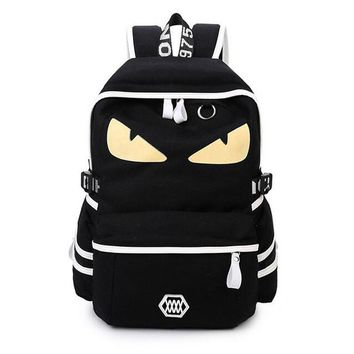 Small Monster School Backpack Demon Eyes Cartoon Kids School Bag for Boy and Girl Anime Book Bag For children Mochila Rucksacks