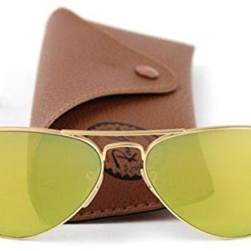 Ray-Ban RB3025 112/93 Aviator Sunglasses Brown Mirror Gold Lens