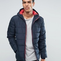 Threadbare Hooded Quilted Jacket at asos.com