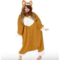 "Corgi Kigurumi - Adult ""Corgi Dog"" Fancy Dress Costume, One Size Fits All"