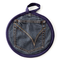 RECLAIMED DENIM POTHOLDER