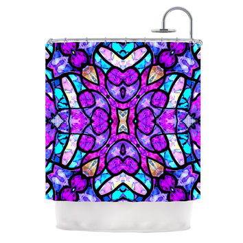 "Art Love Passion ""Kaleidoscope Dream"" Pink Purple Shower Curtain"