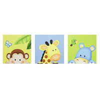 Fantasy Fields 3-pc. Sunny Safari Canvas Wall Art Set by Teamson Kids