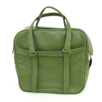 Vintage Samsonite Silhouette Luggage Carry On Bag Tote Green