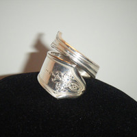 Size 9 Upcycled/Recycled Sterling Silver Plate Spoon Ring