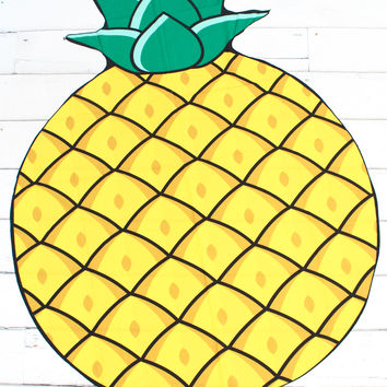 Large Pineapple Beach Mat
