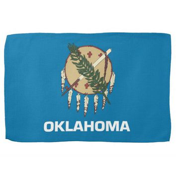 Kitchen towel with Flag of Oklahoma, U.S.A.