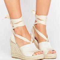 ASOS TEAM PLAYER Tie Leg Wedges at asos.com