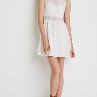 Ornate Embroidered-Mesh Dress