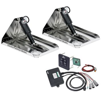 "Lenco 16"" x 12"" Heavy Duty Performance Trim Tab Kit w-Standard Tactile Switch Kit 12V [RT16X12HD]"