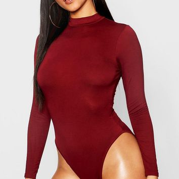 Basic Turtle Neck Long Sleeve bodysuit | Boohoo