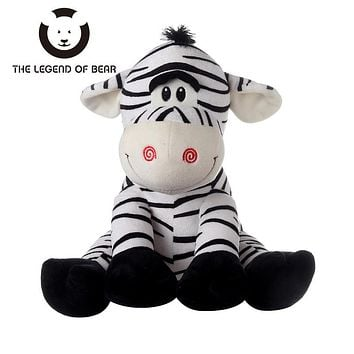 2017 Kawai Zebra Kids Dolls THE LEGEND OF BEAR Brand Stuffed Plush Animals Toys Tiny Gifts For Children Soft Anime Toy