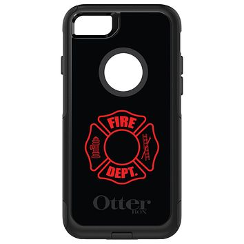 DistinctInk™ OtterBox Commuter Series Case for Apple iPhone or Samsung Galaxy - Red Fire Department