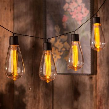 Battery Operated Vintage Edison Bulb String Lights - Set of 10