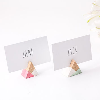 Rustic Place or business card holder SET of 30