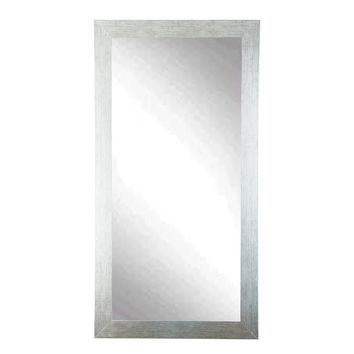 BrandtWorks Tall Stainless Silver Grain 32 x 71-inch Wall Mirror - Silver/Black | Overstock.com Shopping - The Best Deals on Mirrors