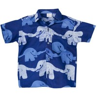 Baby Boy Batik Shirt Elephants Sizes 12 - 24 Months