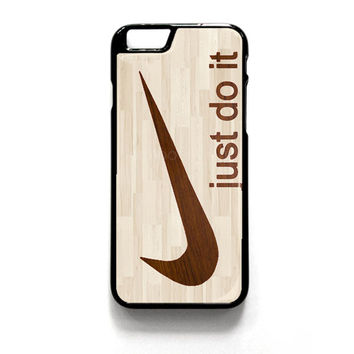 Wooden Nike Just Do It iPhone 4 4S 5 5S 5C 6 6 Plus , iPod 4 5  , Samsung Galaxy S3 S4 S5 Note 3 Note 4 , and HTC One X M7 M8 Case