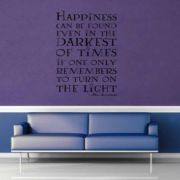 Happiness Can Be Found - Harry Potter Quote - Wall Decal - No 3$19.95