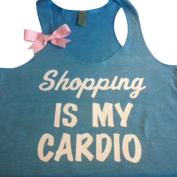 Shopping is my Cardio Racerback Tank