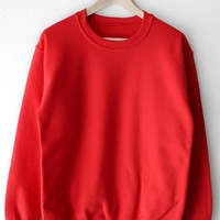 Oversized Sweatshirt - Red