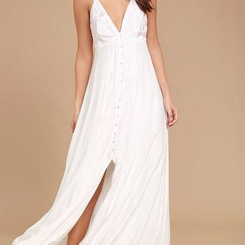 BABY PINK EMBROIDERED MAXI DRESS