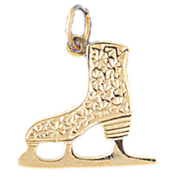 14K GOLD SPORT CHARM - ICE SKATING BOOT #3533