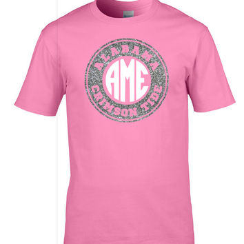 Alabama Gameday shirt -Circle Monogram -pink