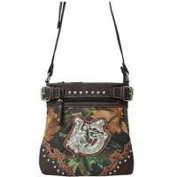 Western Cowgirl Horse Head Horseshoe Cross Body Messenger Purse Brown (Brown Cross Body Messenger Bag)